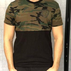 Guess men's camo and black t shirt